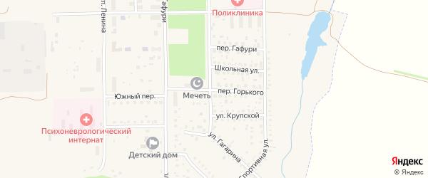 Переулок М.Горького на карте села Маячного с номерами домов