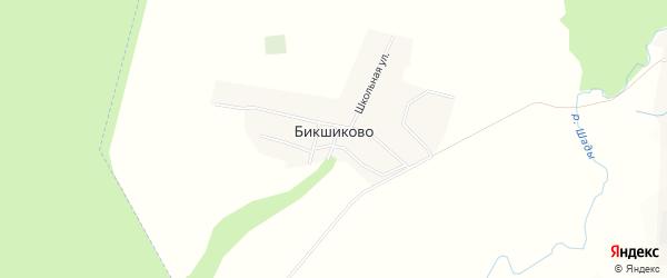 Карта деревни Бикшиково в Башкортостане с улицами и номерами домов