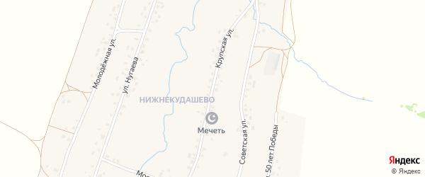Крупская улица на карте села Верхнекудашево с номерами домов