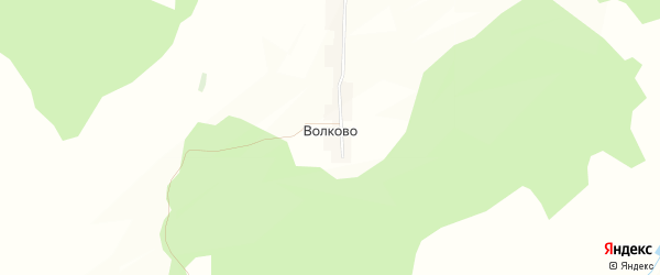 Карта деревни Волково в Башкортостане с улицами и номерами домов