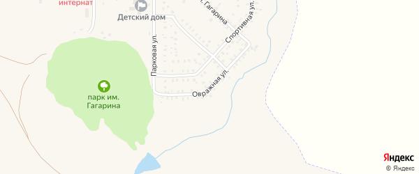 Овражная улица на карте села Маячного с номерами домов