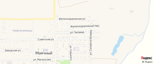 Улица Чапаева на карте села Маячного с номерами домов