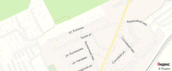 Тихая улица на карте села ст Юматово с номерами домов