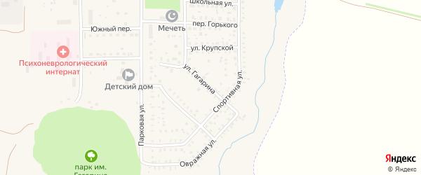 Улица Гагарина на карте села Маячного с номерами домов