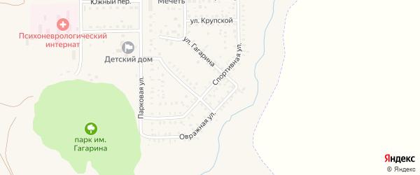 Спортивная улица на карте села Маячного с номерами домов