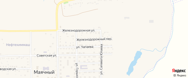 Железнодорожный переулок на карте села Маячного с номерами домов