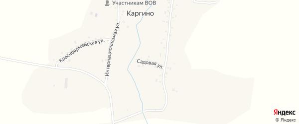 Садовая улица на карте деревни Каргино с номерами домов