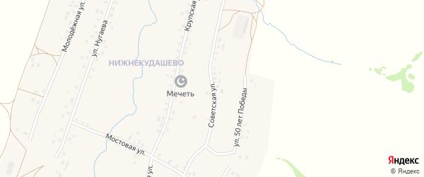Советская улица на карте села Верхнекудашево с номерами домов