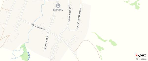 Улица 50 лет Победы на карте села Верхнекудашево с номерами домов