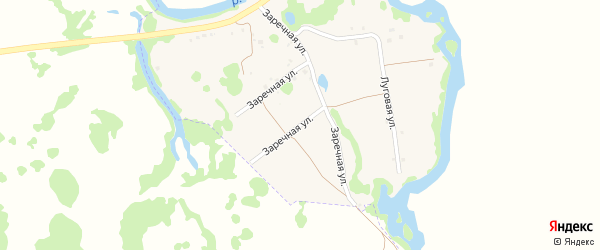 Заречная улица на карте села Суслово с номерами домов
