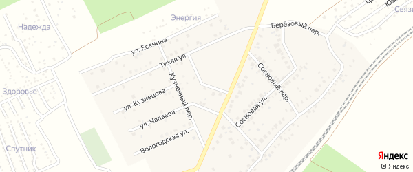 Учительская улица на карте села ст Юматово с номерами домов