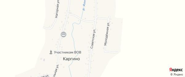 Советская улица на карте деревни Каргино с номерами домов