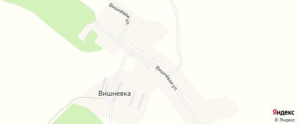 Вишневая улица на карте деревни Вишневки с номерами домов