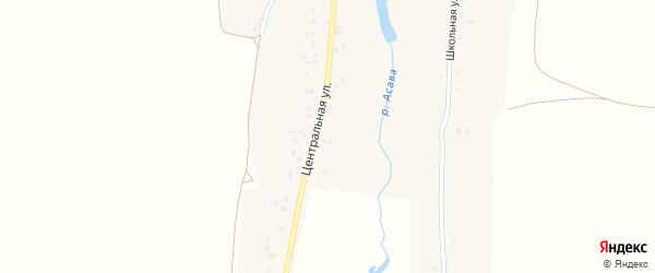 Центральная улица на карте деревни Асавбашево с номерами домов