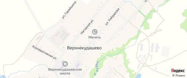 Улица Хайдарова на карте села Верхнекудашево с номерами домов