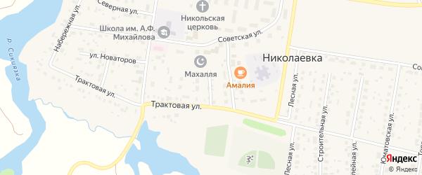 Улица Мира на карте деревни Николаевки с номерами домов