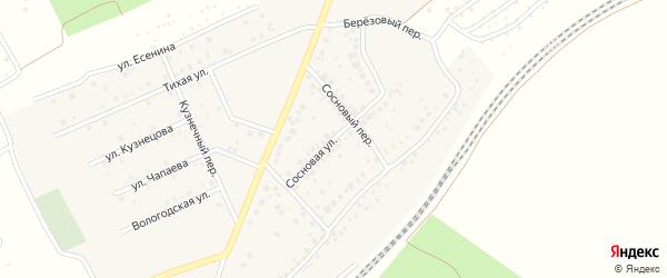 Сосновая улица на карте села ст Юматово с номерами домов