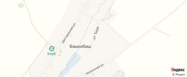 Улица Труда на карте села Башкибаша с номерами домов