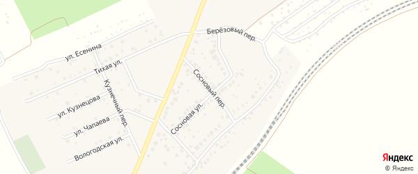 Сосновый переулок на карте села ст Юматово с номерами домов