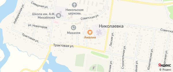 Молодежная улица на карте деревни Николаевки с номерами домов
