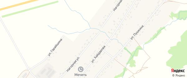 Нагорная улица на карте села Верхнекудашево с номерами домов