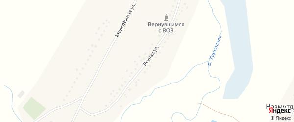 Речная улица на карте села Степановки с номерами домов