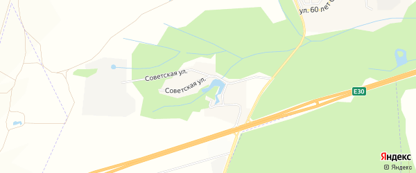 Карта деревни Платоновки в Башкортостане с улицами и номерами домов