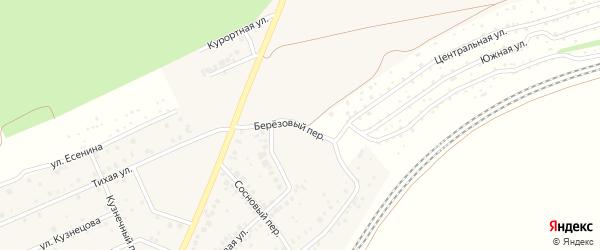 Березовый переулок на карте села ст Юматово с номерами домов