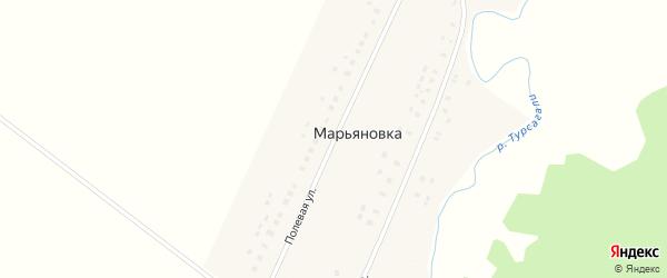 Полевая улица на карте деревни Марьяновки с номерами домов