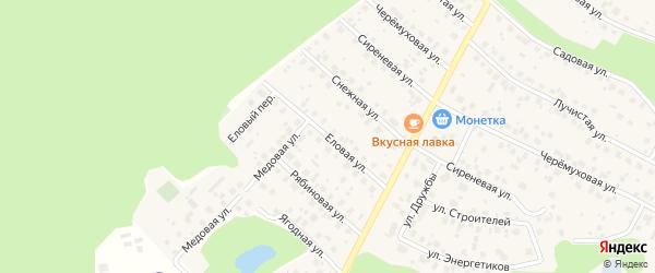 Еловая улица на карте деревни Уптино с номерами домов