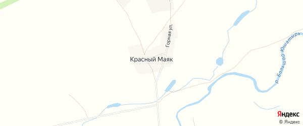 Карта деревни Красного Маяка в Башкортостане с улицами и номерами домов