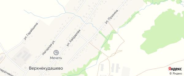 Улица Пушкина на карте села Верхнекудашево с номерами домов