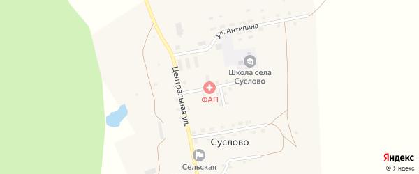 Школьная улица на карте села Суслово с номерами домов