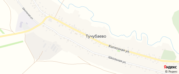 Колхозная улица на карте села Тучубаево с номерами домов