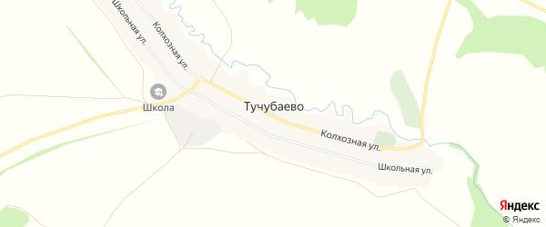 Карта села Тучубаево в Башкортостане с улицами и номерами домов