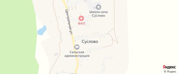 Улица 50 лет Октября на карте села Суслово с номерами домов
