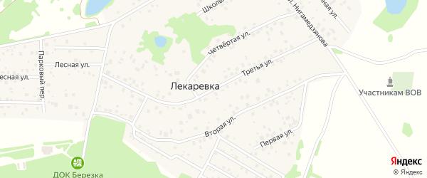 Третья улица на карте деревни Лекаревки с номерами домов