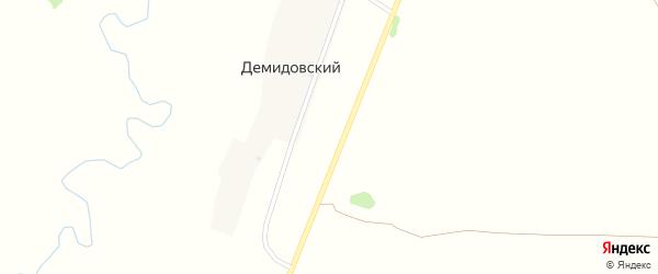 Центральная улица на карте Демидовского хутора с номерами домов