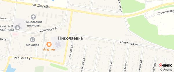 Советская улица на карте деревни Николаевки с номерами домов