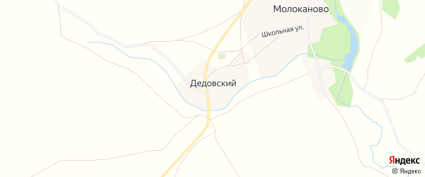 Карта Дедовского хутора в Башкортостане с улицами и номерами домов