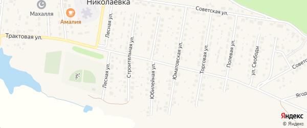 Юбилейная улица на карте деревни Николаевки с номерами домов