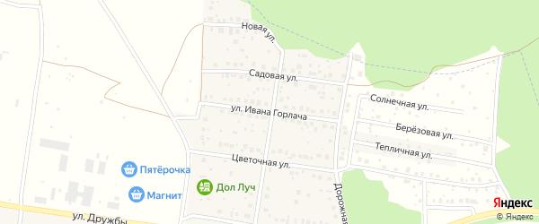 Улица имени Ивана Горлача на карте деревни Николаевки с номерами домов