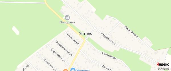 Улица Дружбы на карте деревни Уптино с номерами домов