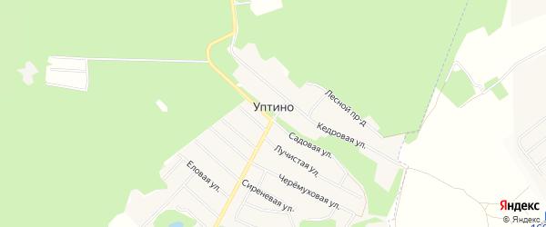 Карта деревни Уптино в Башкортостане с улицами и номерами домов