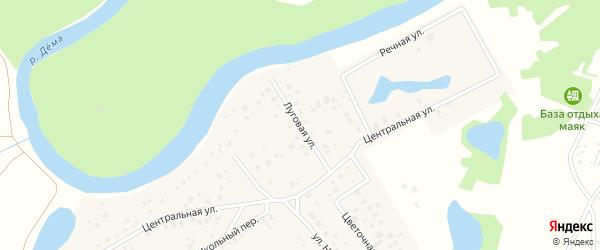 Луговая улица на карте деревни Лекаревки с номерами домов