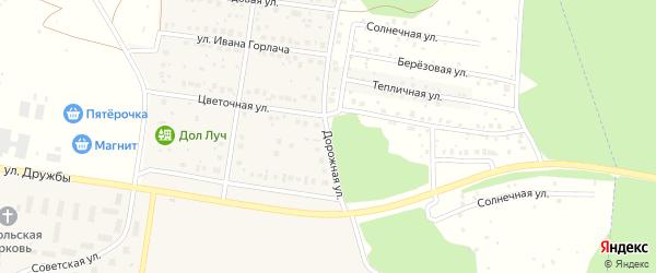 Дорожная улица на карте деревни Николаевки с номерами домов