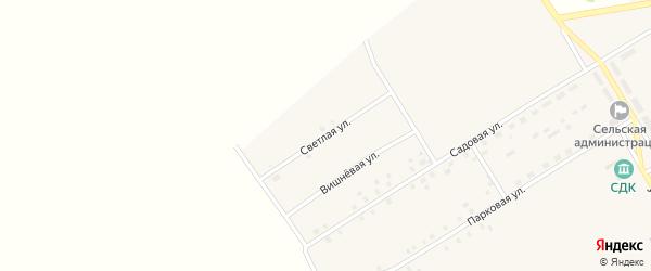 Светлая улица на карте села Осиновки с номерами домов