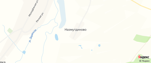Карта деревни Назмутдиново в Башкортостане с улицами и номерами домов