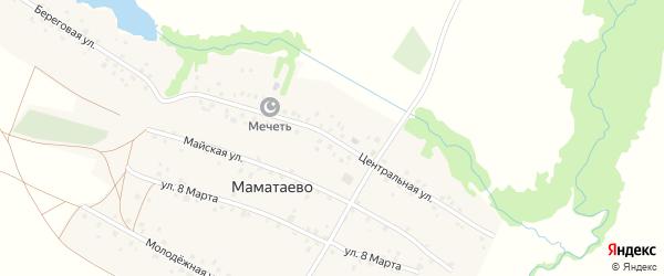 Центральная улица на карте деревни Маматаево с номерами домов