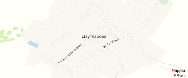 Лесная улица на карте деревни Даутларово с номерами домов